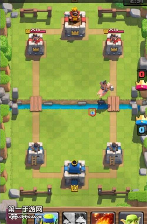 皇室战争横扫竞技场跳河电猪流拆塔技巧