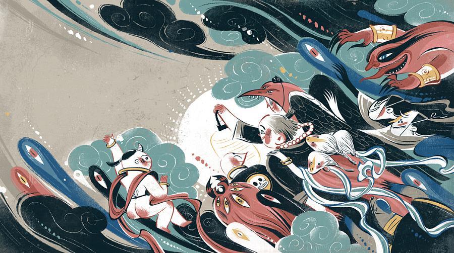 手游打造光怪陆离异世界   在国漫《观海策》的第一集中,主角凌遥就与