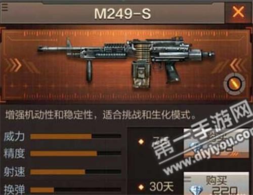 CF手游机枪M249-S价格及入手价值分析