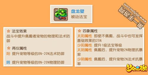 梦幻西游手游法宝盘龙壁两仪四象属性一览