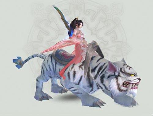 诛仙手游2人骑乘坐骑白虎获得及属性图鉴