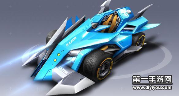 QQ飞车水立方娱乐平台B车剃刀加速时间及赛车图鉴