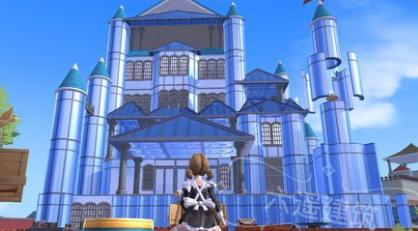 游戏中很多玩家喜欢建造各种各样的房子,创造与魔法玻璃城堡怎么造?图片