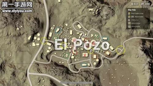 绝地求生全军出击沙漠地图深井镇资源位置
