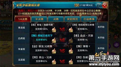 御龙在天手游QQ区26服争霸赛战前分析