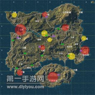 绝地求生刺激战场地图全方位简析一览