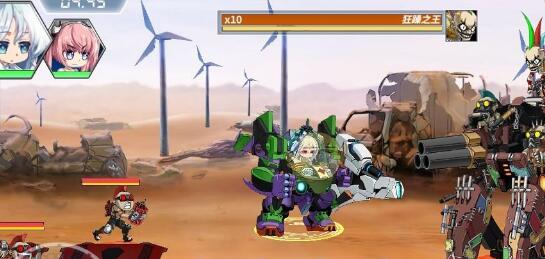 重装战姬4-8狂躁之王快速击杀技巧