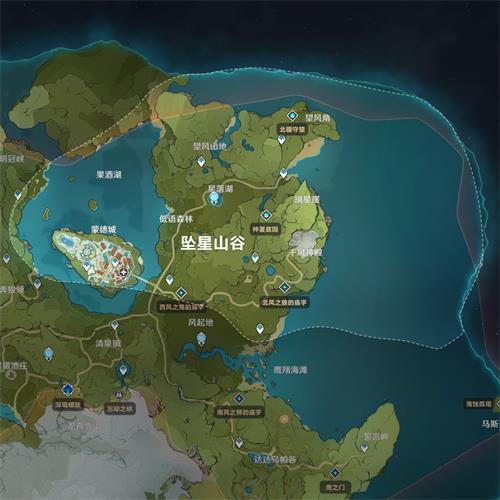 原神墜星山谷地圖資源一覽表
