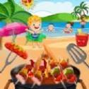 烧烤海海滩美食派对