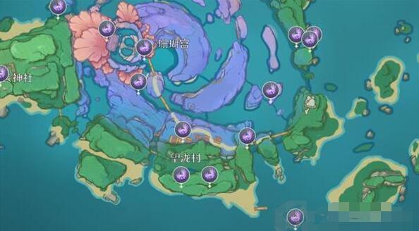 原神海祇島雷神瞳刷新位置詳解