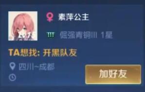 王者荣耀素萍公主是谁账号是哪个